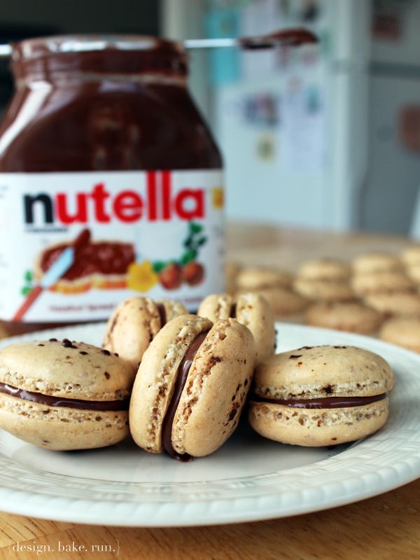 design. bake. run. -- coffee nutella macarons